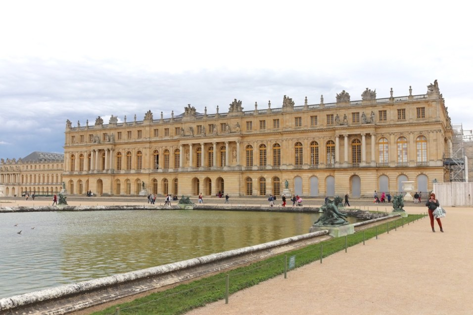 Palace of Versailles main building from the gardens