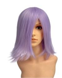 Morix Short Purple Wig Cosplay, Black Short Wig | P4