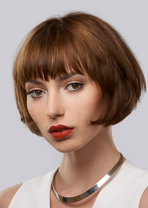 Short Brown Bob Straight Womens Wig Cheap Bob Wig