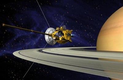 Cassini bremst in die Umlaufbahn des Saturns