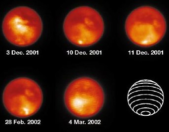 Sequentielle Infrarotmessungen des Keck-Teleskops