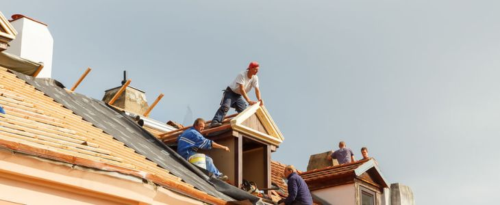 roofing professionals at work