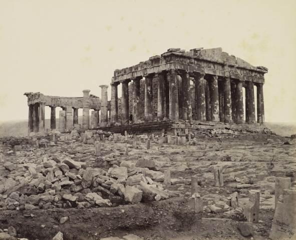 Francis Bedford: Νοτιοδυτική όψη του Παρθενώνα στην Ακρόπολη (31/5/1862) - Royal Collection Trust/© Her Majesty Queen Elizabeth II 2014.