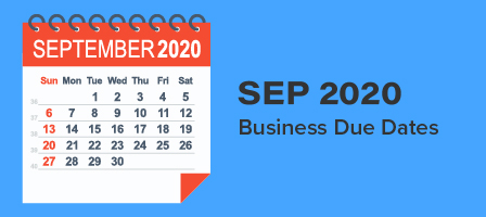 SEPTEMBER 2020 BUSINESS DUE DATES