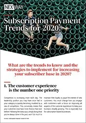 Subscription payment trends for 2020