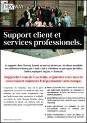 Support client Nexway et services professionels.