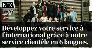 Développez votre entreprise à  l'international grâce à notre service clientèle en 6 langues.