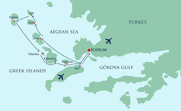 Yacht Cruise Holiday Sailing Itineraries Dodecanese