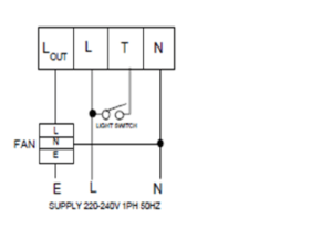 RT5A Run on Timer for use with extractor fans ventilating