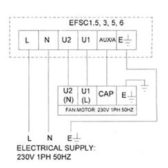 Volume Control Wiring Diagram Home Electrical Software Cadamp Efsc5 1ph 5 Amp Fan Speed Controller / Efsc5.0 Nfan Supply & Stock Extractor Fans ...