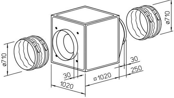 GBD710/4 Helios 3ph Gigabox centrigugal fan / Helios
