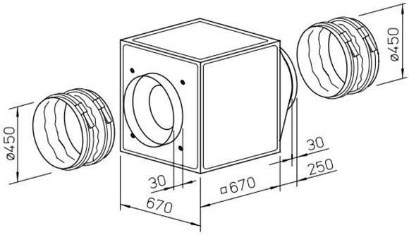 Helios GBW 450/4 1ph Gigabox fan / Helios / gbw450/4