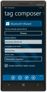 NFC interactor 7 - Bluetooth Wizard