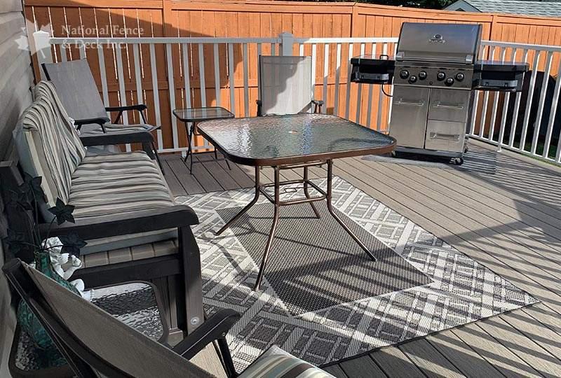 Timbertech composite deck in Driftwood