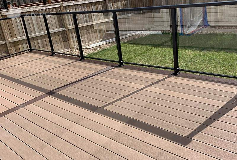 deck in colors Sandy Birch and Rustic Elm
