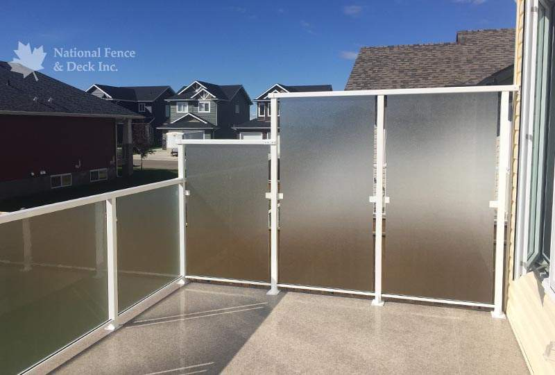 stepped aluminum railing