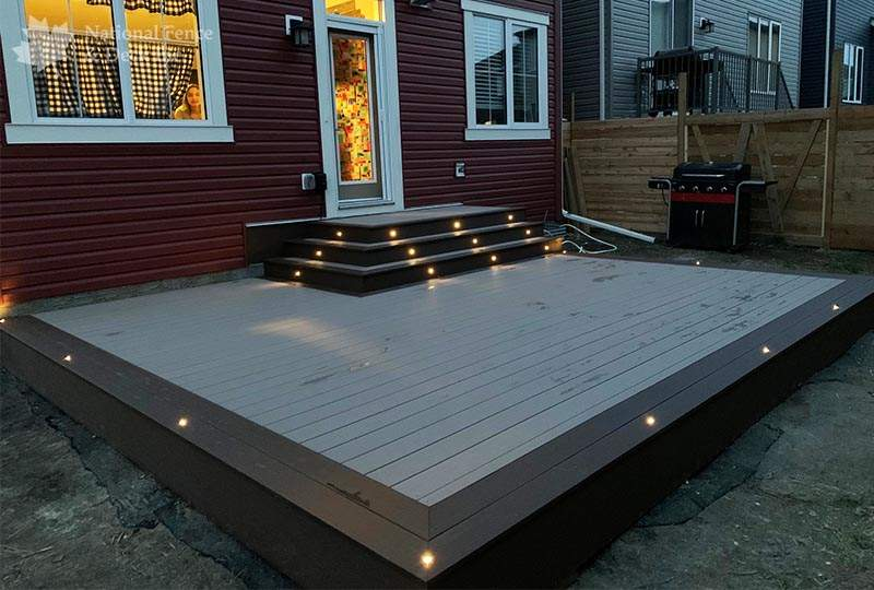 Timbertech composite deck in Sandy Birch