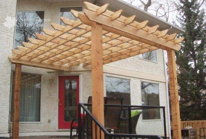 Cedar pergola in Bowness