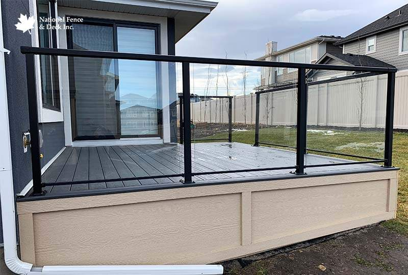 Black Railing TimberTech Decking