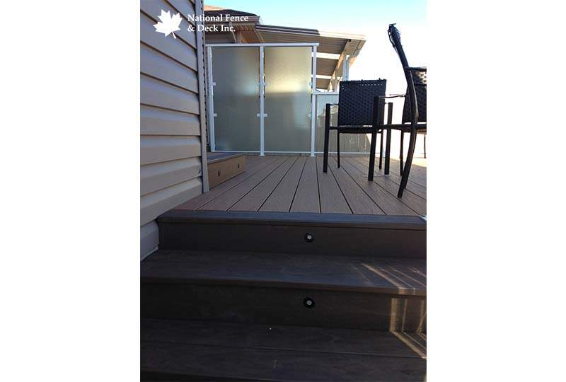 Timbertech Decking with Frosted Glass Wall