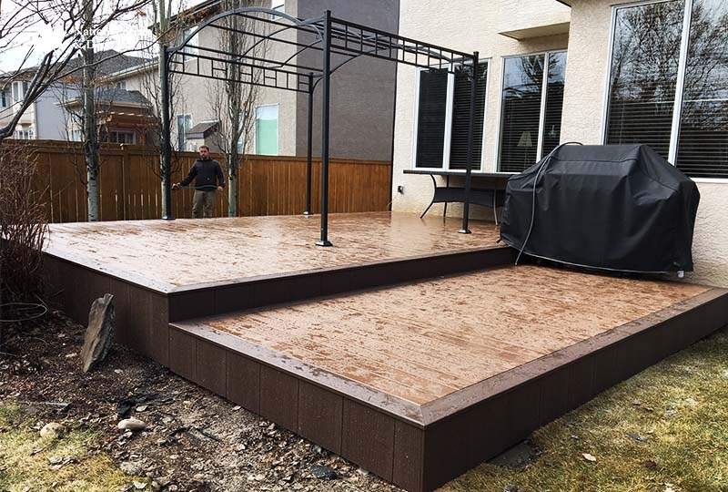 Timbertech Rustic Elm and Brown Oak Composite Deck