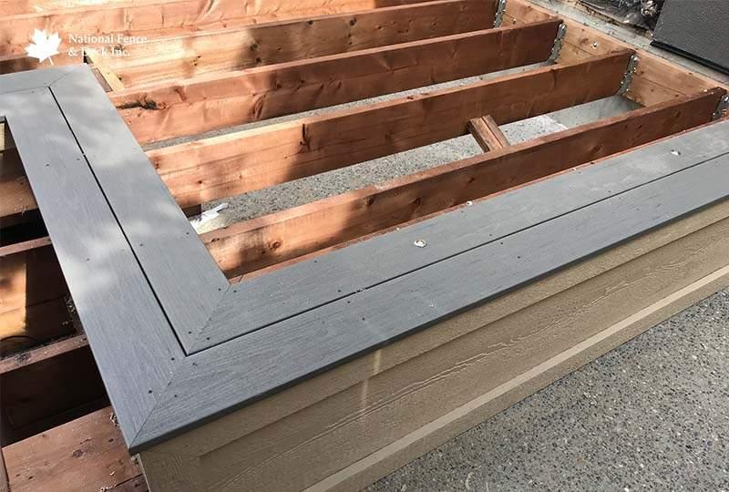 Timbertech Silver Maple Deck With Cedar pergola