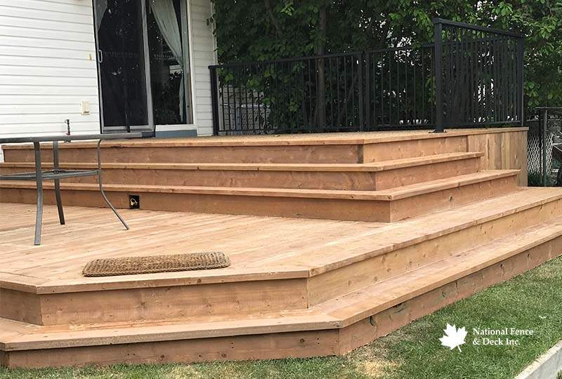 Large Brown Pressure Treated Deck