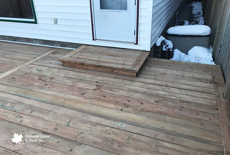 Pressure Treated Back Deck