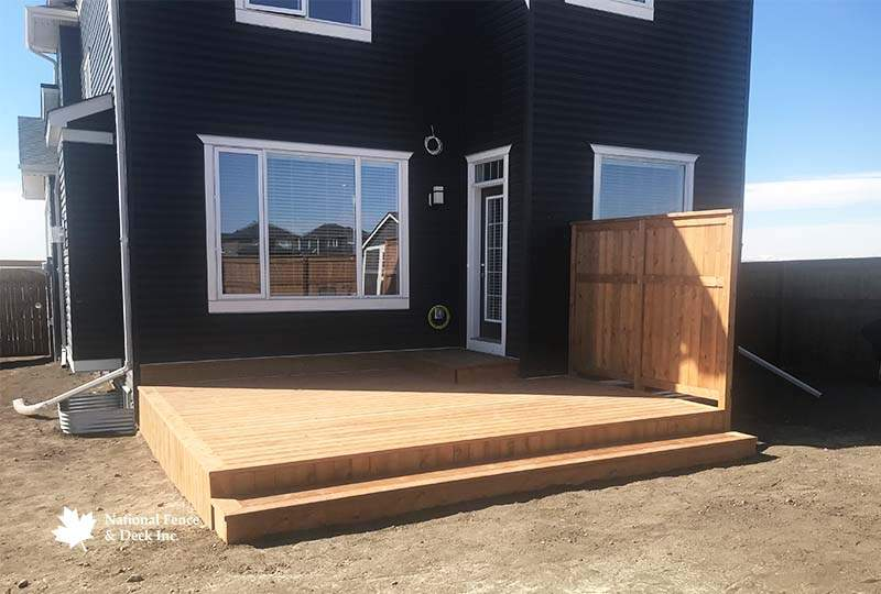 Pressure Treated Skirting Back Deck