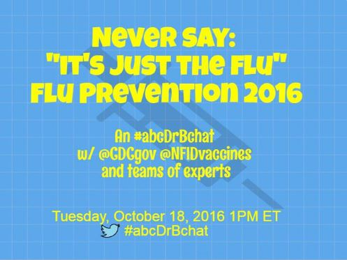 ABC News, CDC, & NFID Chat About Flu on Twitter