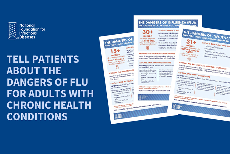 Flu & Chronic Health Conditions: Sample Social Media Posts and Graphics