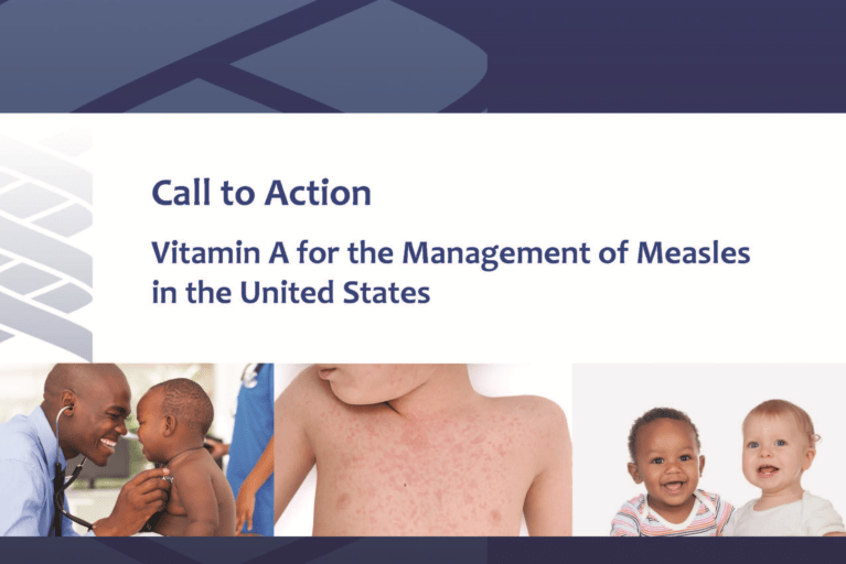 Call to Action Vitamin A for the Management of Measles in the US (March 2020)