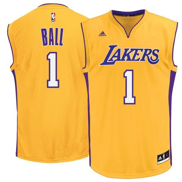 purchase cheap 710e5 777c1 LA Lakers Lonzo Ball Jerseys S-XL 2X 3X (3XL) 4X (4XL), 5X ...