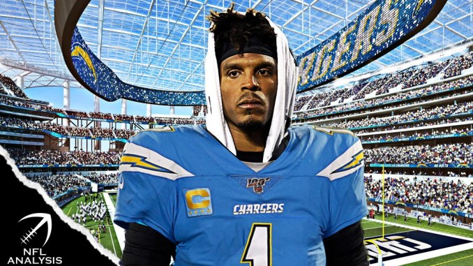 Cam Newton, Chargers, Panthers