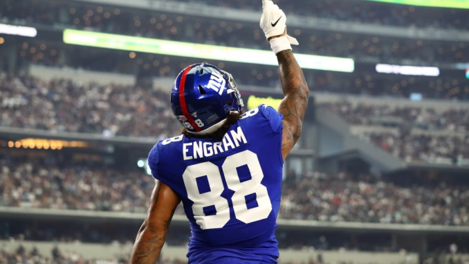 Evan Engram, Giants, Packers