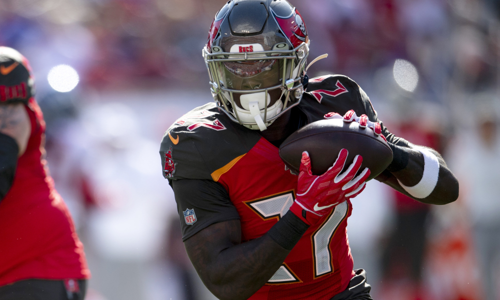 Ronald Jones, Alvin Kamara, Saints, Falcons, Buccaneers, Panthers,, NFL