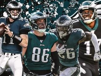 Eagles, Carson Wentz, Zach Ertz, Miles Sanders, Alshon Jeffery, Rams