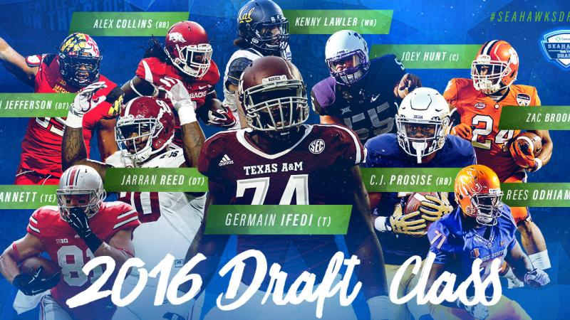 The 10 players selected by Seattle Seahawks in the 2016 NFL Draft