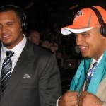 Mike Pouncey with brother Maurkice Pouncey