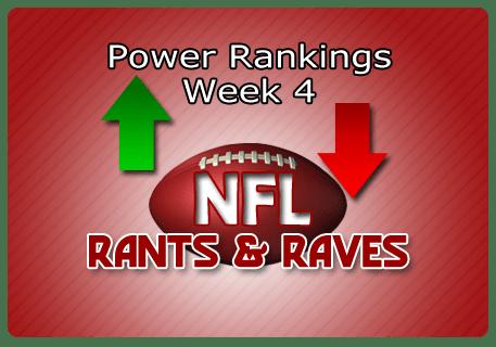 Jeff's Week 4 Most Powerful Rankings