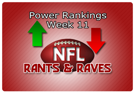 Jeff's Most Powerful Rankings for Week 11