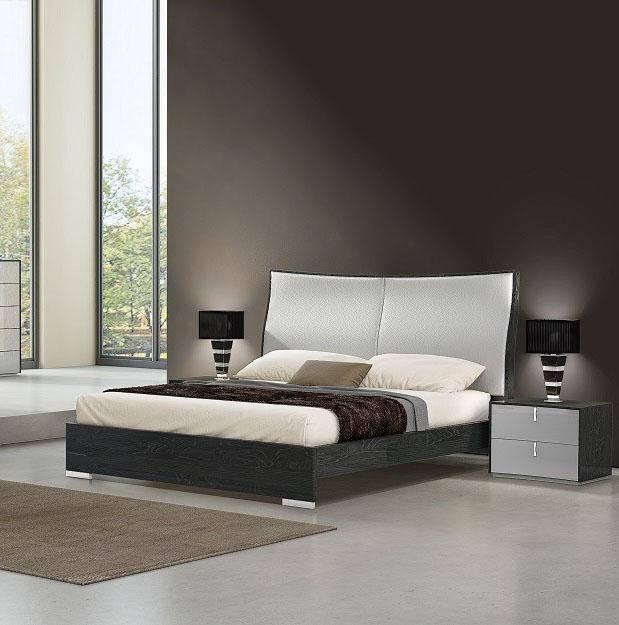 Buy J M Vera Queen Platform Bedroom Set 3 Pcs In Gray Light Gray Eco Leather Online