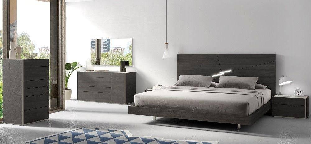 Buy J&M Faro Queen Platform Bedroom Set 3 Pcs in Dark Gray
