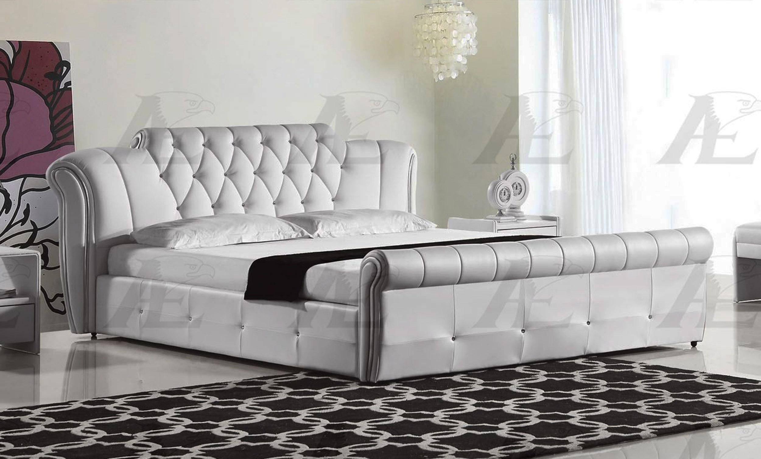 american eagle b d032 w california king platform bed in white pu