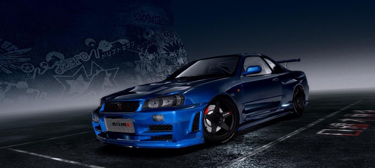 Need For Speed Pro Street Nissan Skyline R34 Gtr