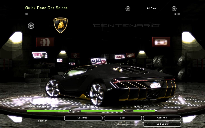 Need For Speed Underground 2 Lamborghini Centenario LP 770