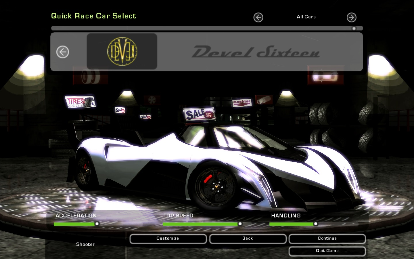 Need For Speed Underground 2 Various Devel Sixteen Prototype  NFSCars