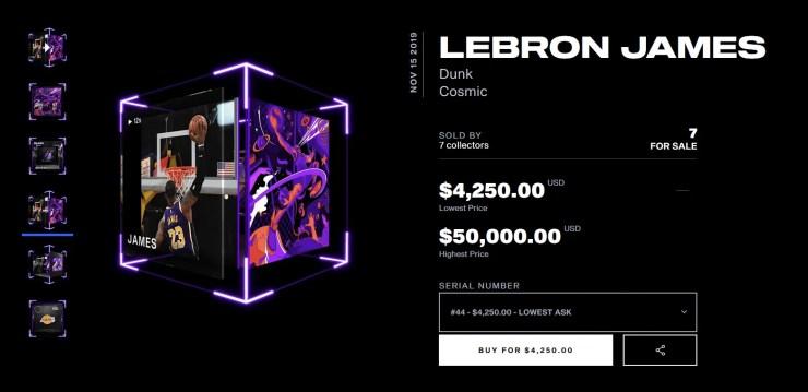 Lebron James NFT NBA Topshot
