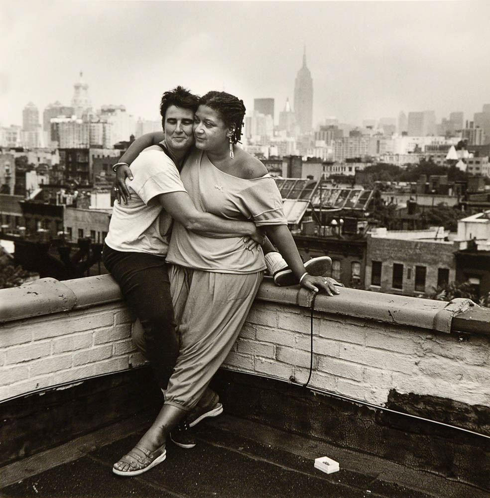 Jewelle Gomez & Marty Pottenger, NYC 1989 by Joyce Culver