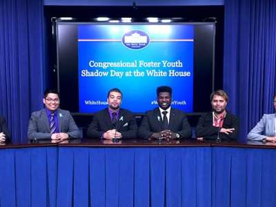 Students From UTRGV Speaks On Child Welfare Policies At The Congressional Foster Youth Shadow Program